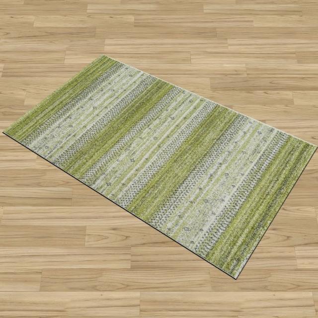 【Ambience】比利時Nomad床邊/走道地毯-綠茵(67x130cm)