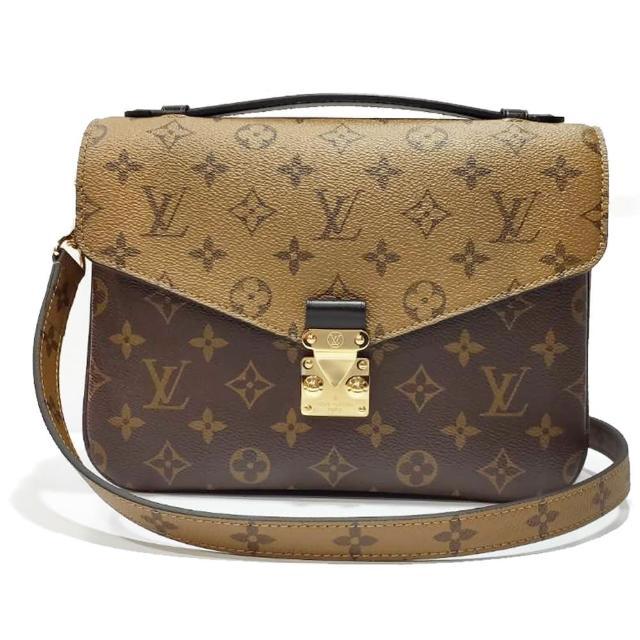 【Louis Vuitton 路易威登】M44876 Pochette Metis 經典雙色花紋手提手提/斜背郵差包(雙色經典花紋)