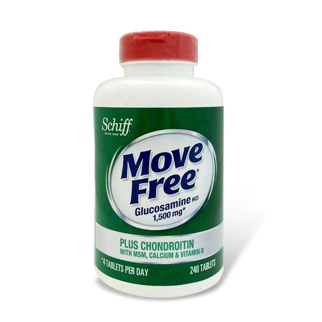 【Move Free 益節】葡萄糖胺+軟骨素+MSM+維生素D+鈣錠(240錠/瓶)