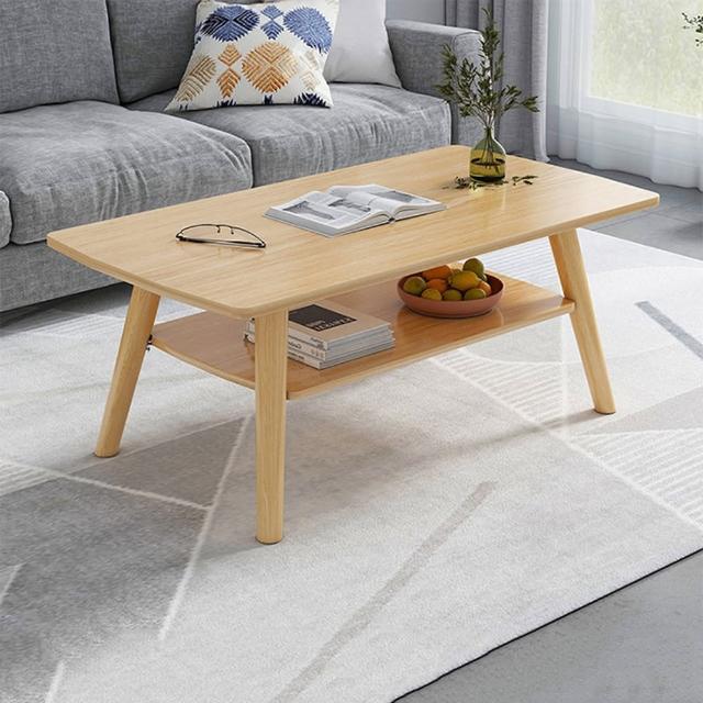 【HappyLife】雙層客廳茶几 100cm 木紋 大理石紋 Y10093(咖啡桌 客廳桌 大桌子 大理石桌 木紋桌)