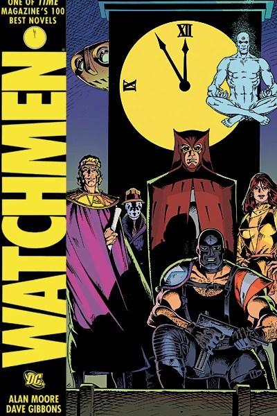 Portada de Watchmen, el còmic d'Alan Moore, Dave Gibbons i John Higgins
