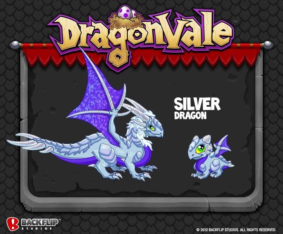 Silver Dragon DragonVale Wiki Wikia