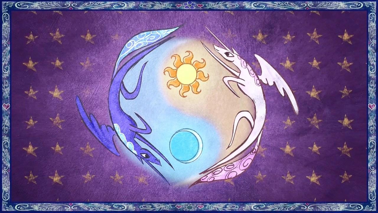 celestia and luna form a yin and yang like symbol s1e01