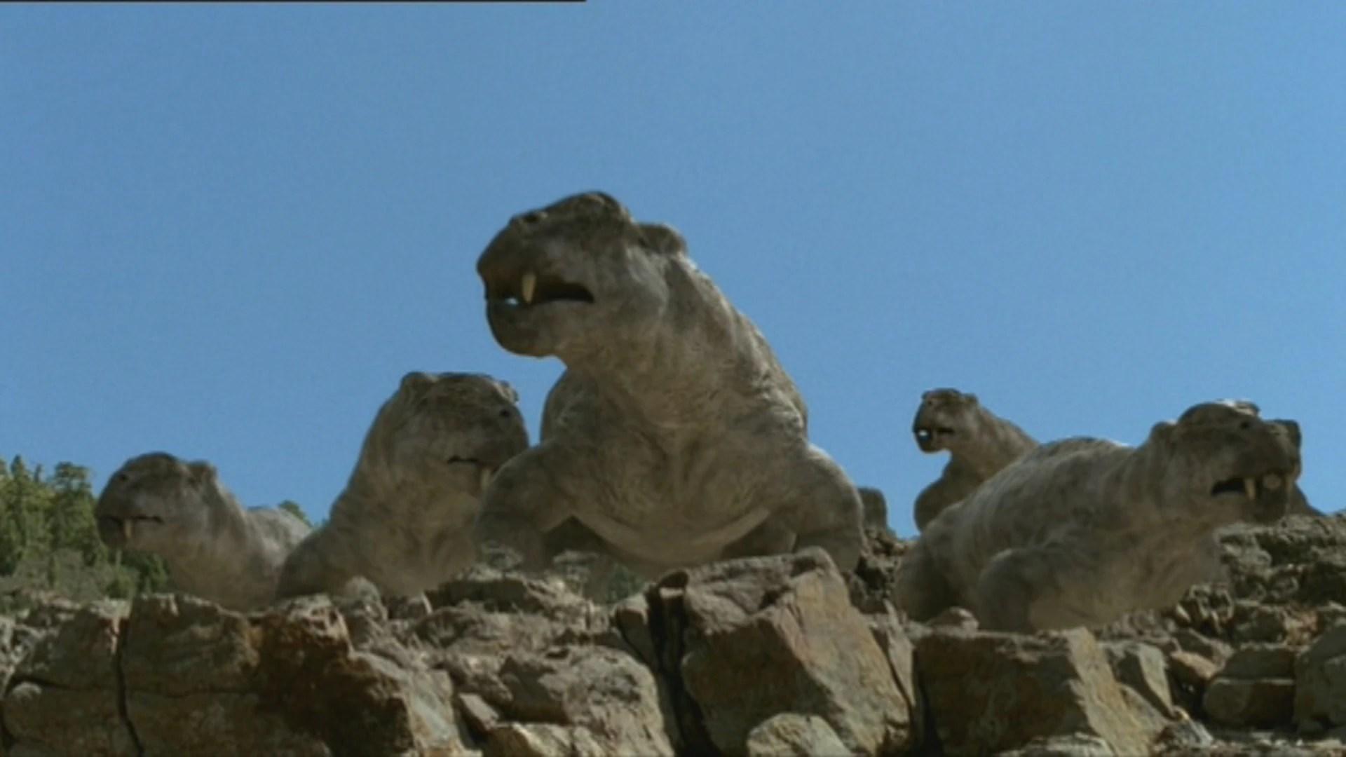 Lystrosaurus Herd on Rock .jpg