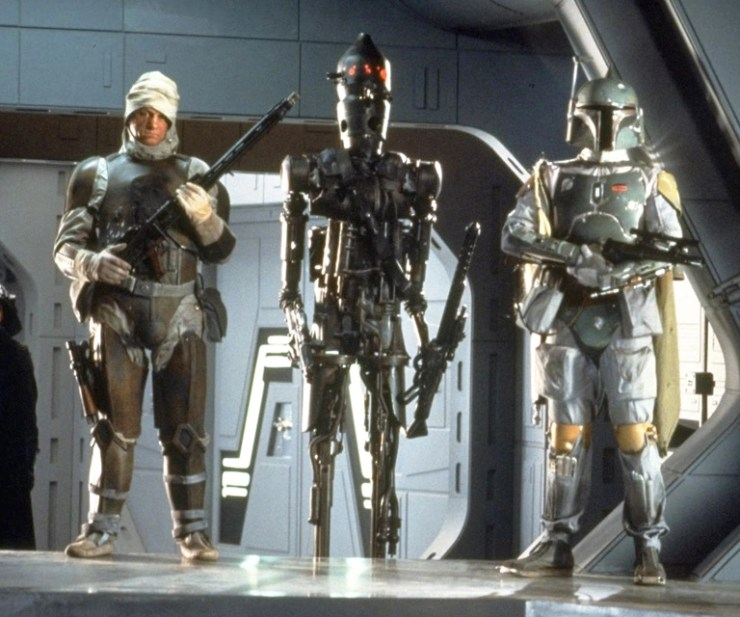 repaint - Star Wars Sideshow Dengar weapon upgrade DengarIG88Fett-TESB30