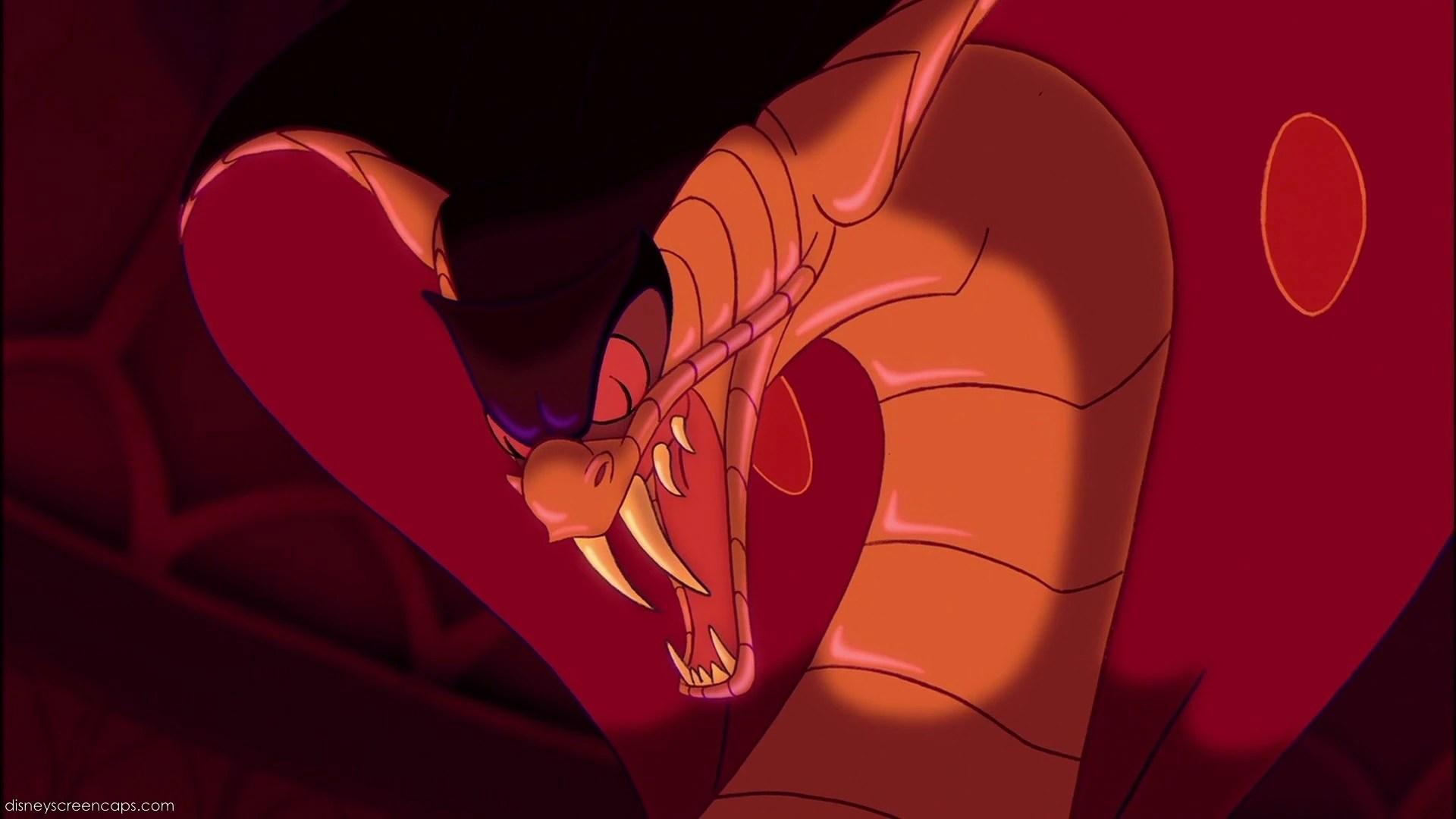 Aladdin Jasmine Snake Transformation