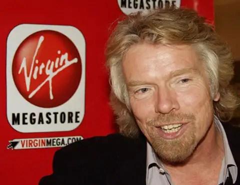 Richard Branson em evento pela Virgin