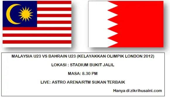 malaysia u23 vs bahrain, poster malaysia u23 vs bahrain, keputusan terkini malaysia u23 vs bahrain u23