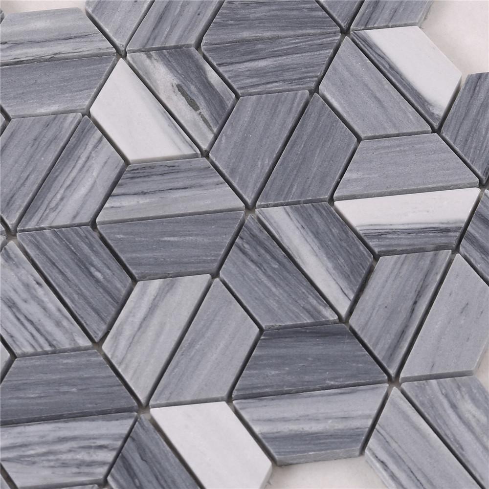 hta6 arrow shape white gray stone