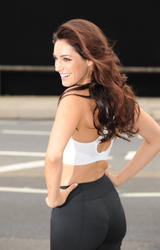 Kelly Brook shows cleavage and ass in tight black spandes as she  unveiled her new poster for Reebok Easytone Trainers in London - Hot  Celebs Home