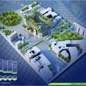 Vista aérea Torres Honeycomb. Imágen cortesía de Vincent Callebaut Architecture
