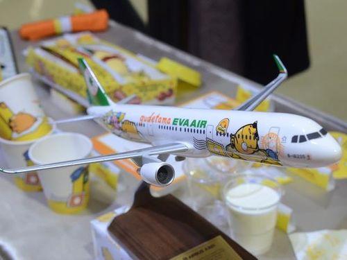 可愛さ満点 エバー航空ぐでたま塗装機、きょうテークオフ/台湾 | 観光 | 中央社フォーカス台湾