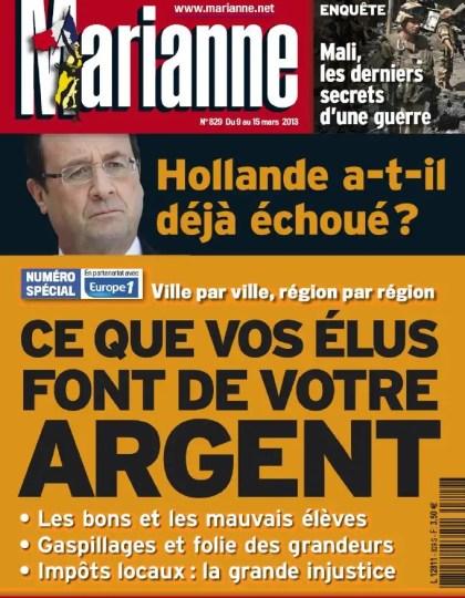 Marianne N°829 du 09 au 15 Mars 2013
