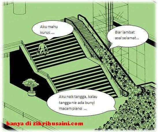 naik tangga, people using escalator, orang naik escalator, escalator jammed,