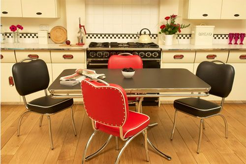 Cola-Red, retro dining furniture