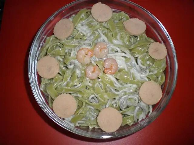 Pasta nidos con sabor profundo a mar