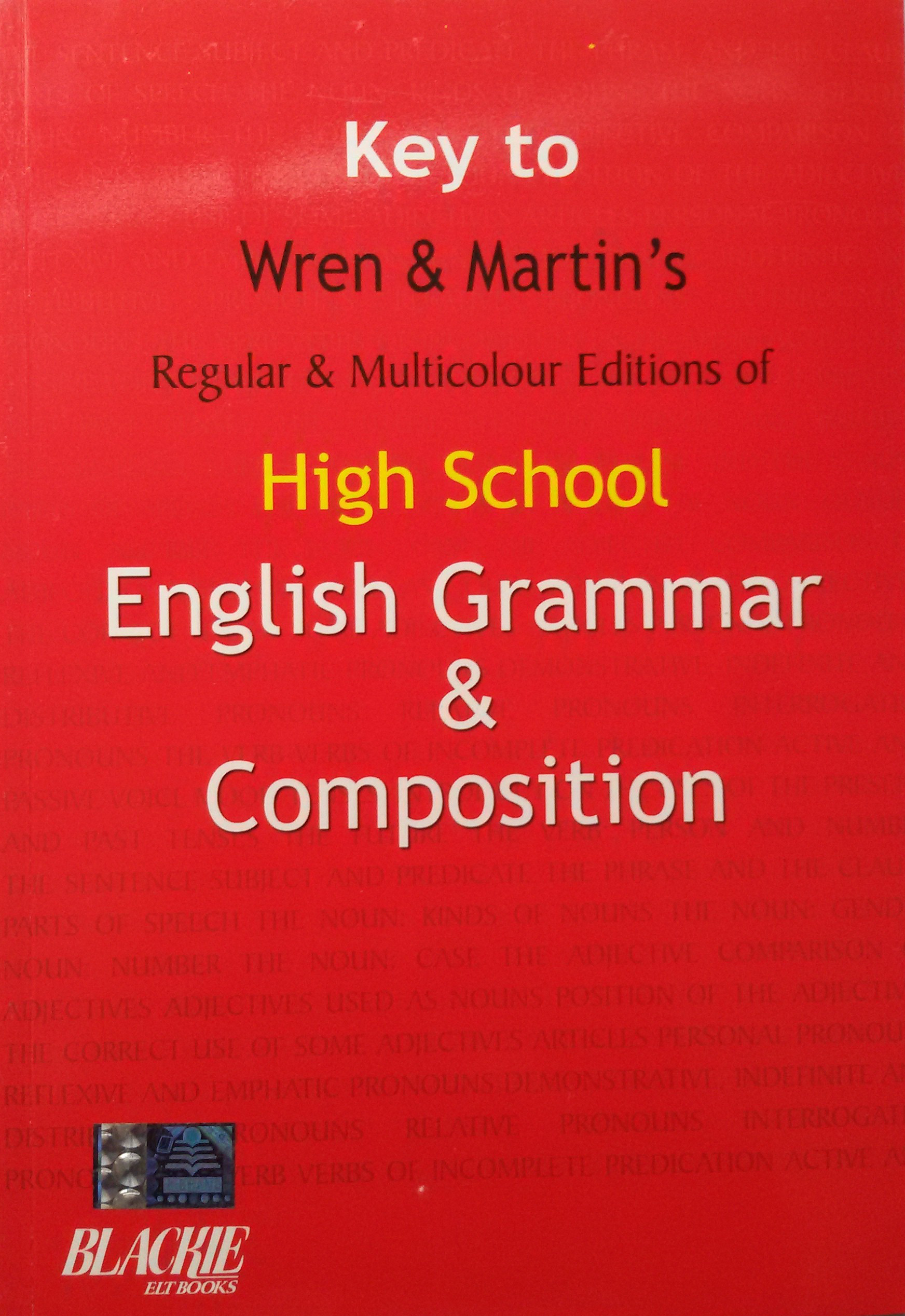 Key To High School English Grammar Amp Composition English