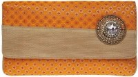 Kashish Women Casual, Wedding, Festive Orange Satin  Clutch