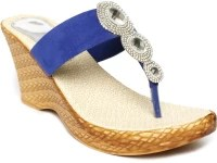 Foot Jewel Blue Wedges: Sandal