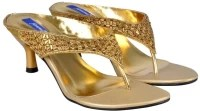 Femme FM366 Gold Heels: Sandal