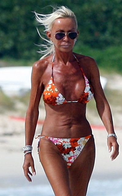 Donatella Versace Shows Off Bikini Body
