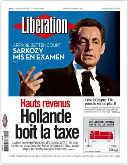 Libération Vendredi 22 Mars 2013