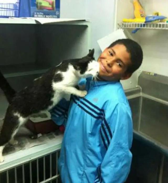 ninosalvagatoninos - Un niño de 10 años salva a un gato de unos niños que lo estaban maltratando