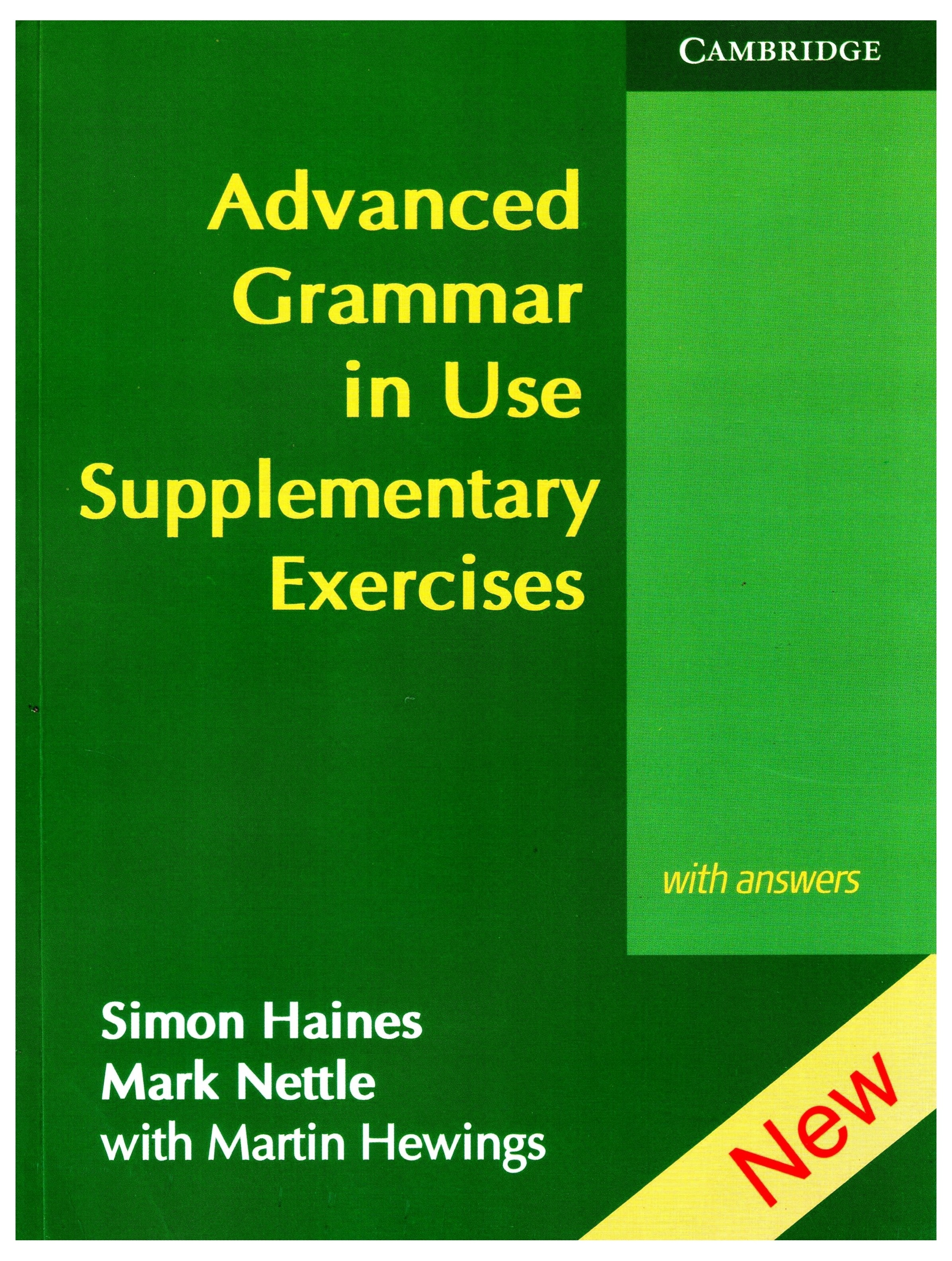 Advanced Grammar In Use Supplementary Exercises English