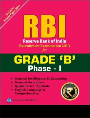 Buy RBI Recruitment Examination 2013 Grade 'B' Phase - I 4th Edition: Book