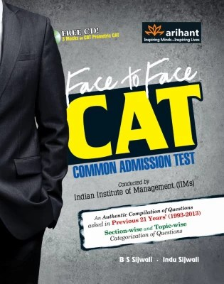 Buy Face to Face CAT Common Admission Test (With CD) 7th Edition: Book