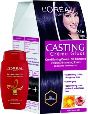 loreal paris casting creme gloss plum 316 with offer hair color available at flipkart for rs 529