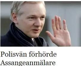 Polisen van med kvinna som anmalde assange