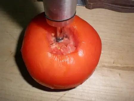 Sacar carne al tomate