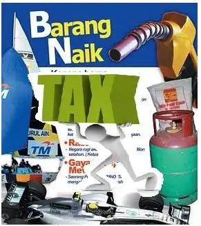 cukai naik , barng naik, harga barang naik,