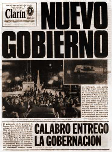 Another of Clarín's first pages from those times.