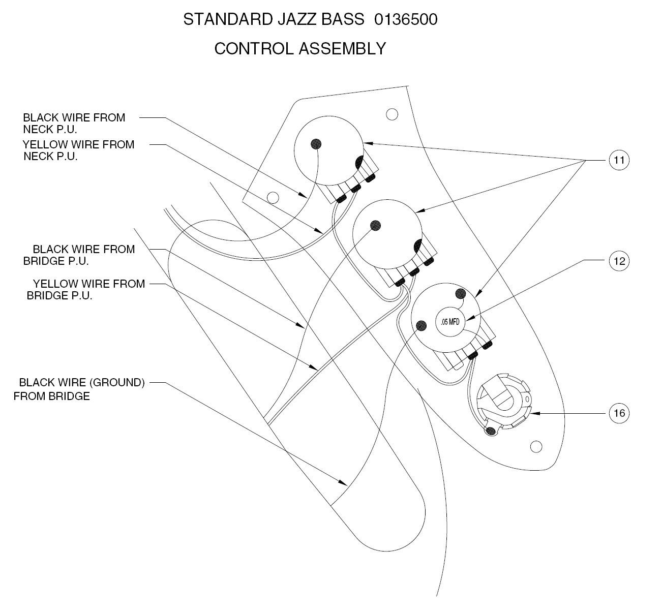 Fender Noiseless Jazz Bass Wiring Diagram