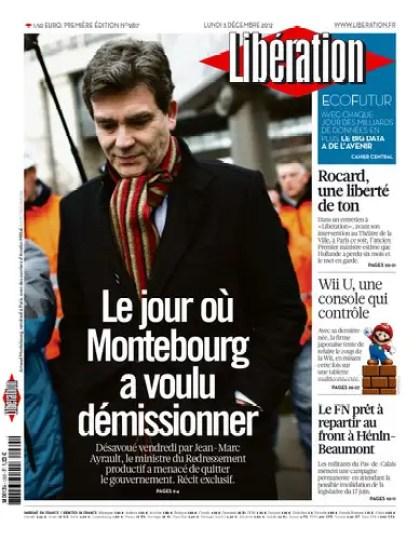 Libération Lundi 03 Décembre 2012
