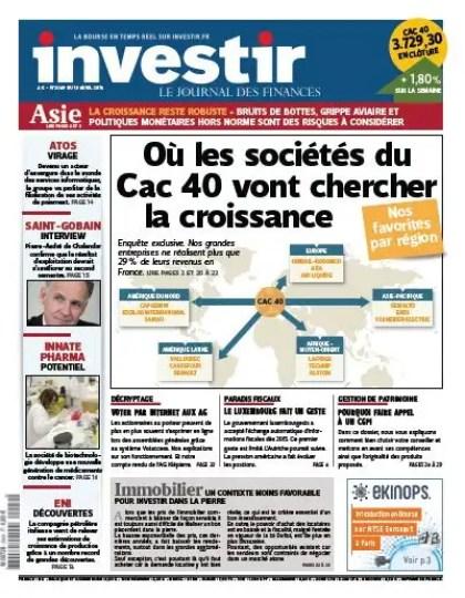 Investir N°2049 du 13 au 19 avril 2013