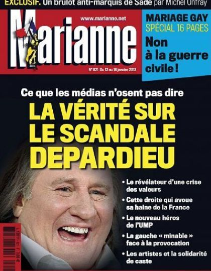 Marianne N°821 du 12 au 18 Janvier 2013
