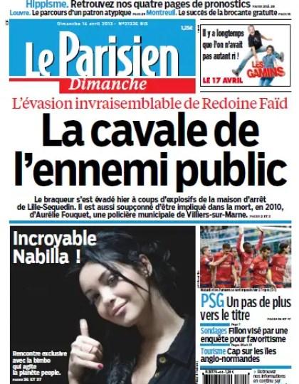 Le Parisien - Dimanche 14 Avril 2013
