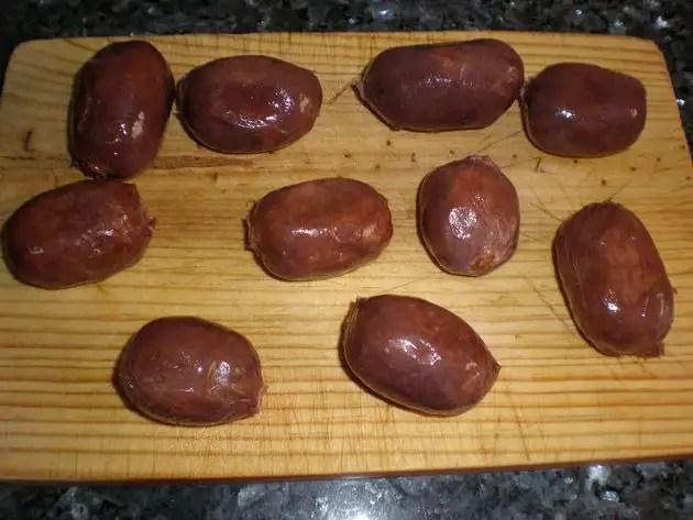 Mini morcillas de cebolla