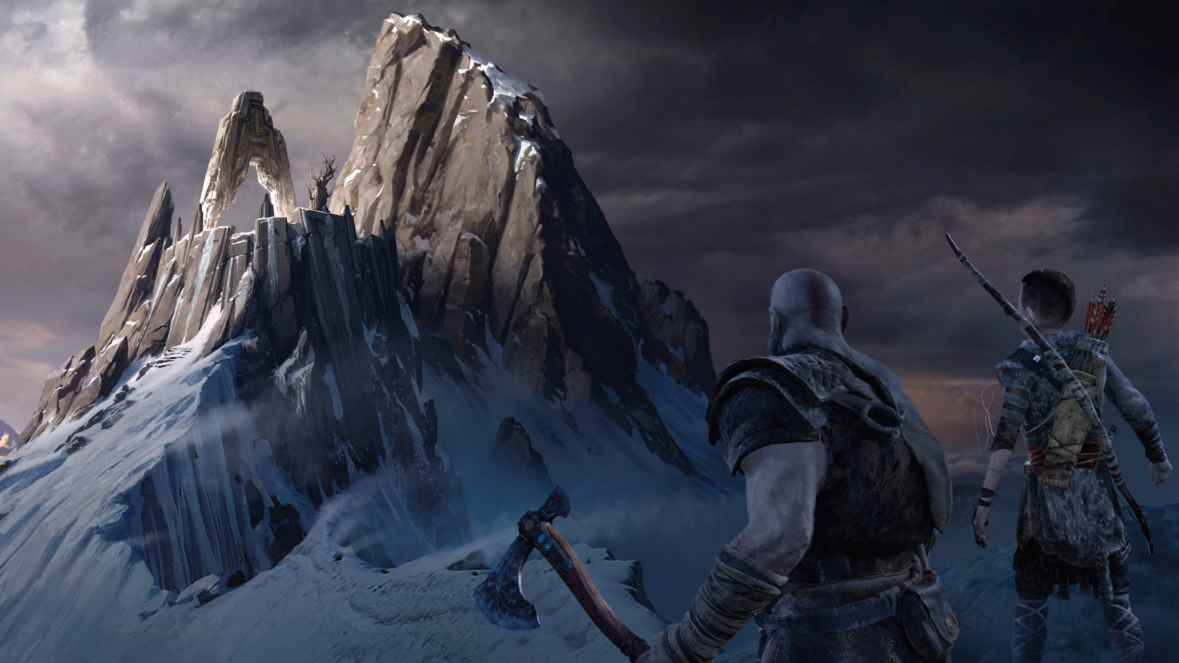 God Of War 4 Hd 4k Wallpaper