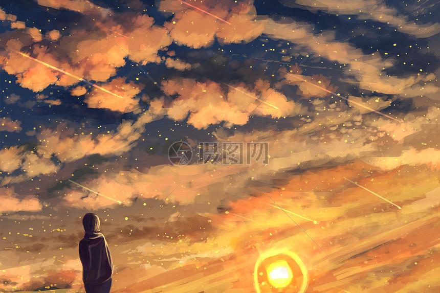 夜空中最亮的星插畫插畫圖片下載-正版圖片400056377-攝圖網