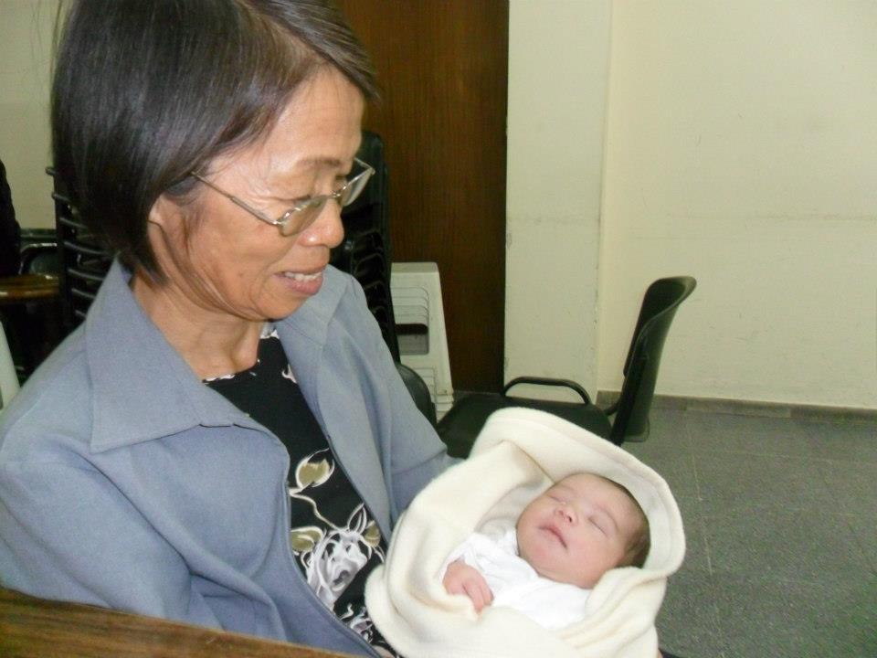 Yumiko San en su rol de abuela