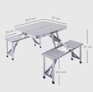 Αν κάνεις κάμπινγκ, ψάρεμα η γενικά σου αρέσει η φύση τσέκαρετο στα 49€ από αποθήκη Τσεχίας | Outdoor Desk Folding Table Desk Chair All in One BBQ Laptop Desk Portable for Home Garden