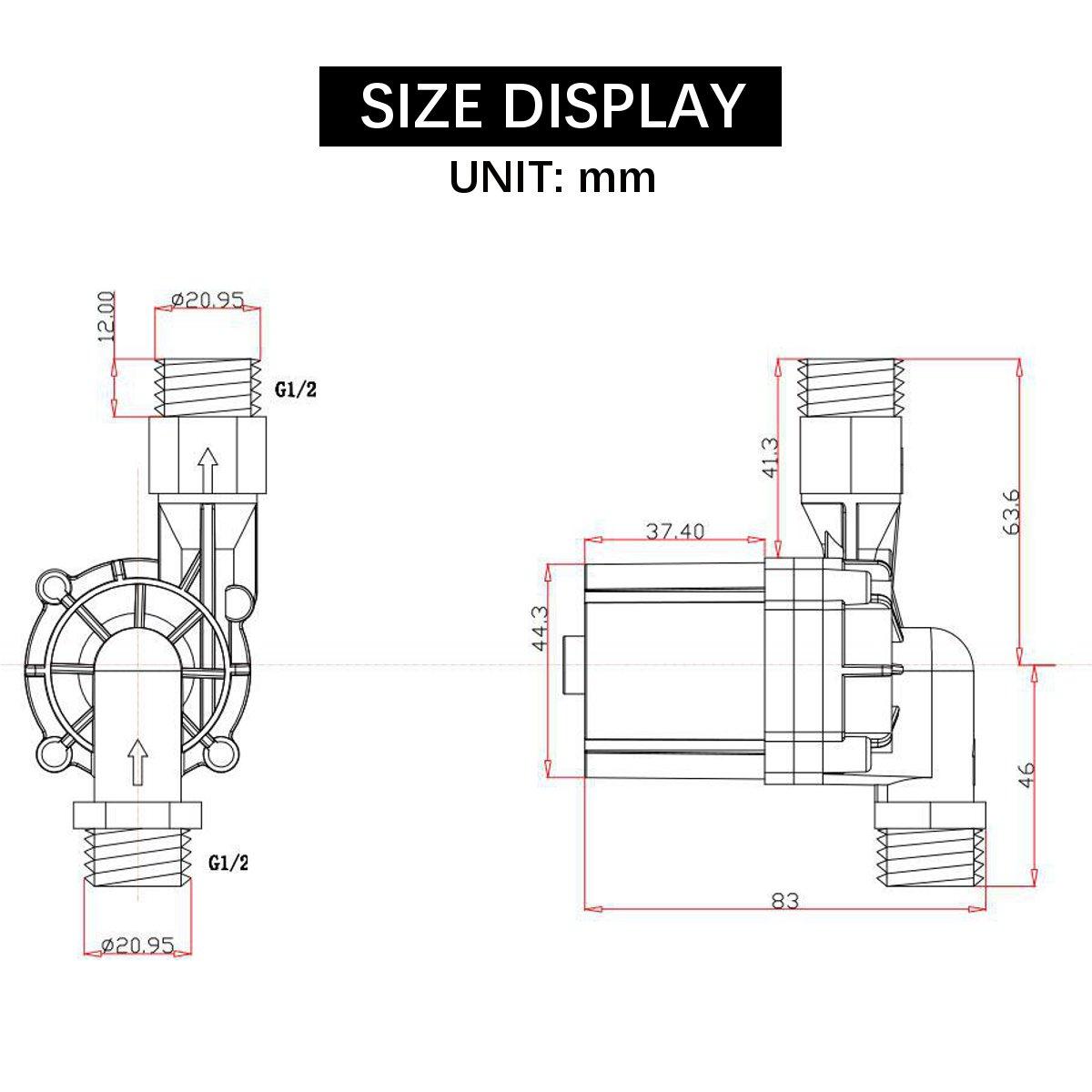 Dc 12v Solar Hot Water Pump Circulation System Brushless