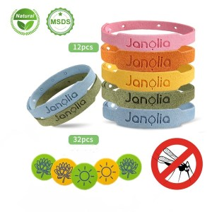 Στα €8.41 με δωρεάν μεταφορικά από αποθήκη Αγγλίας | Janolia 12 Pcs Mosquito Repellent Bracelet Set Natural Citronella Bracelets 32 Pcs Mosquito Patches for Indoor Outdoor Kids Adults
