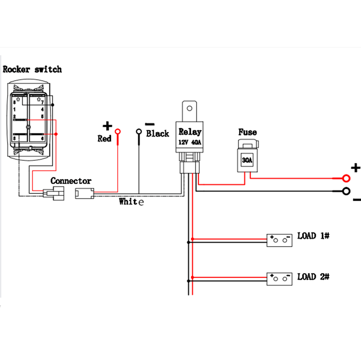 9 Pin Latching Relay Wiring Diagram Schematic