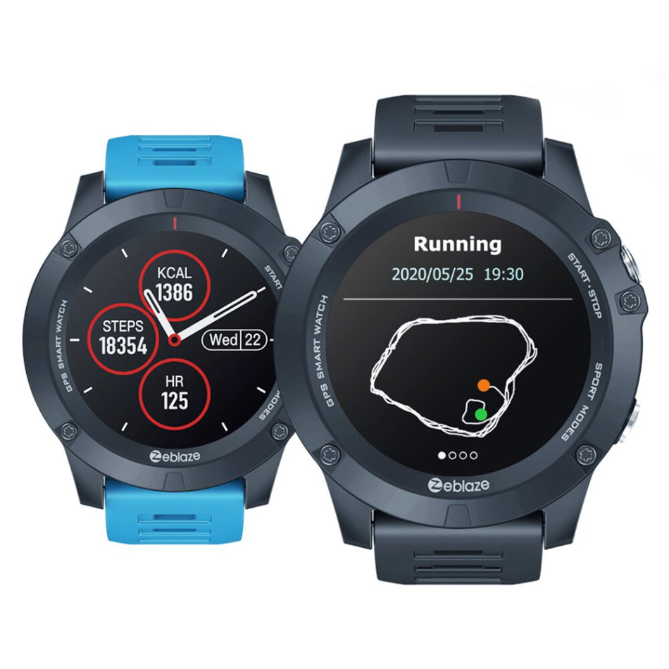 Zeblaze VIBE 3 GPS 1.3'' Full-round Touch Screen Built-in GPS+GLONASS Dual Mode Positioning Multi-sport Mode 24-hour Heart Rate Blood Pressure O2 Monitor Weather Display Smart Watch