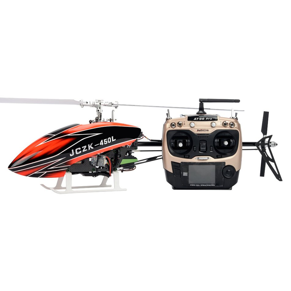 JCZK 450L V2 DFC 6CH 3D Aerobatics One Button Rescue Information Return Smart RC Helicopter RTF with AT9S PRO Transmitter
